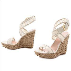 Stuart Weitzman Women's Guipure Espadrille Sandals